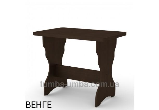 Фото недорогой простой стандартный нераскладной обеденный стол КС-2 ДСП для дома в цвете венге дешево от производителя с доставкой по всей Украине