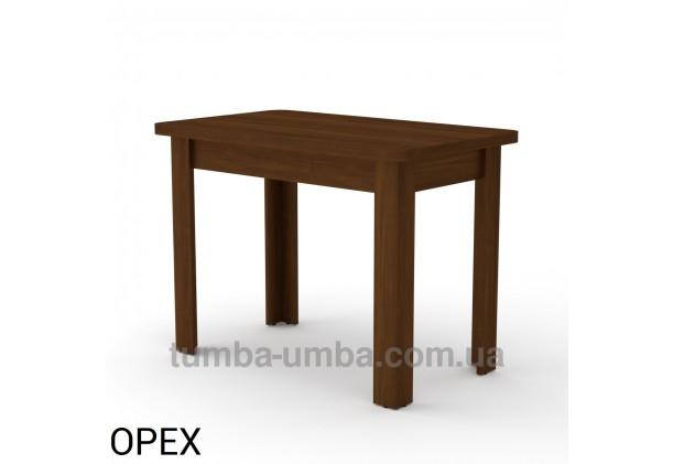 Фото недорогой простой стандартный нераскладной обеденный стол КС-6 ДСП для дома в цвете Орех Экко дешево от производителя с доставкой по всей Украине