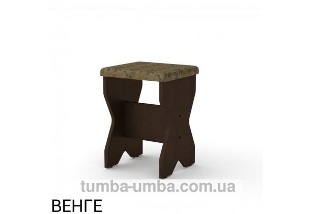 Фото недорогой стандартный кухонный табурет Т-1 ДСП с мягким сиденьем для дома и дачи в цвете венге дешево от производителя с доставкой по всей Украине