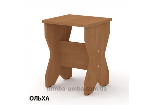 Фото недорогой простой стандартный кухонный табурет Т-4 ДСП для дома и дачи в цвете ольха дешево от производителя с доставкой по всей Украине