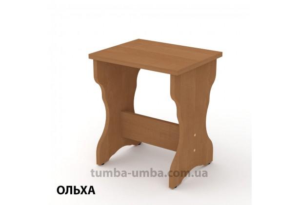 Фото недорогой простой стандартный кухонный табурет Т-5 ДСП для дома и дачи в цвете ольха дешево от производителя с доставкой по всей Украине
