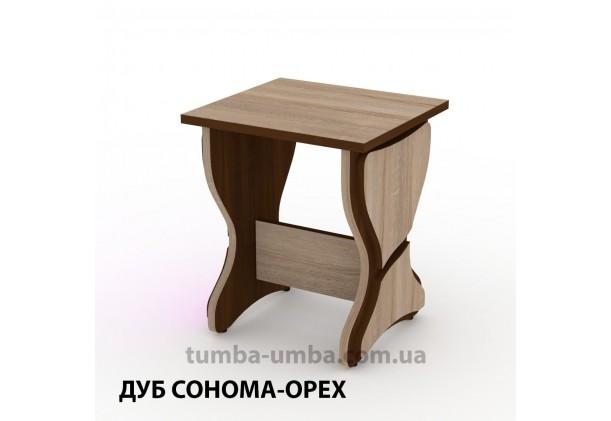 Фото недорогой простой стандартный кухонный табурет Т-6 ДСП для дома и дачи в цвете У дешево от производителя с доставкой по всей Украине