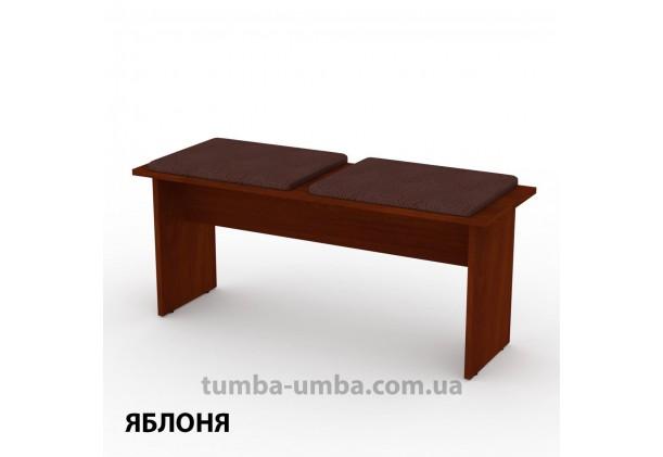 Фото недорогой стандартный кухонный длинный табурет-лавка Т-8 ДСП с мягким сиденьем для дома и дачи в цвете яблоня дешево от производителя с доставкой по всей Украине