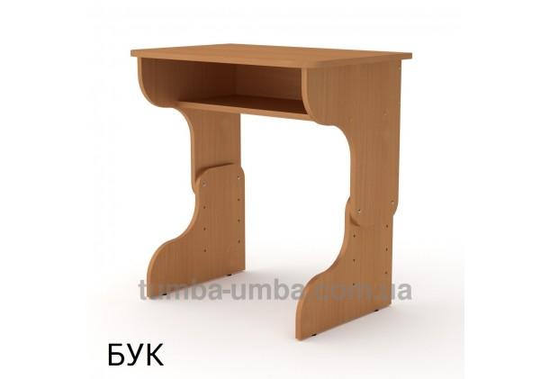 Фото готовый стандартный письменный стол-парта Малыш для дома ребенку для уроков в цвете бук дешево от производителя с доставкой по всей Украине
