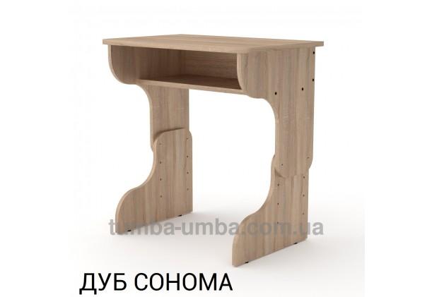 Фото готовый стандартный письменный стол-парта Малыш для дома ребенку для уроков в цвете дуб сонома дешево от производителя с доставкой по всей Украине