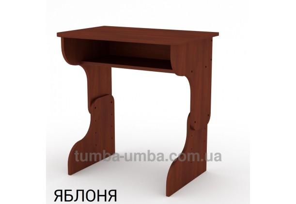 Фото готовый стандартный письменный стол-парта Малыш для дома ребенку для уроков в цвете яблоня дешево от производителя с доставкой по всей Украине