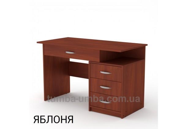 Фото готовый прямой стандартный стол Студент-2 в офис, для ребенка, для дома или для учителя в цвете яблоня дешево от производителя с доставкой по всей Украине