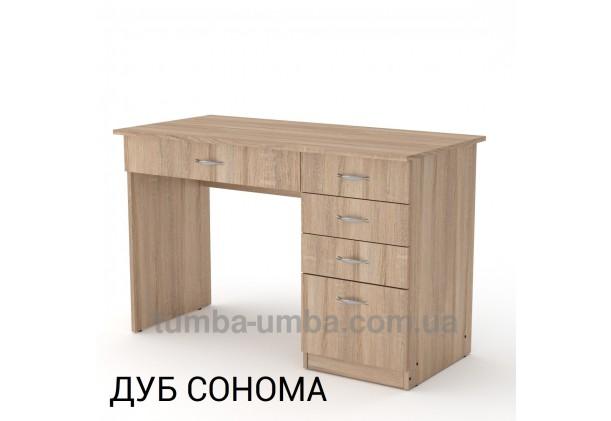 Фото готовый прямой стандартный стол Студент в офис, для ребенка, для дома или для учителя в цвете дуб сонома дешево от производителя с доставкой по всей Украине