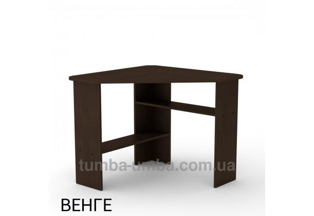 Фото готовый угловой стандартный стол Ученик-2 в офис, для ребенка, для дома или для учителя в цвете венге дешево от производителя с доставкой по всей Украине