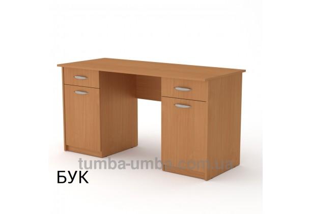 Фото готовый прямой стандартный стол Учитель-2 в офис, для ребенка, для дома или для учителя в цвете бук дешево от производителя с доставкой по всей Украине