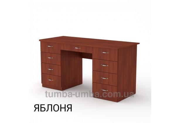 Фото готовый прямой стандартный стол Учитель-3 в офис, для ребенка, для дома или для учителя в цвете яблоня дешево от производителя с доставкой по всей Украине