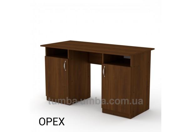 Фото готовый прямой стандартный стол Учитель в офис, для ребенка, для дома или для учителя в цвете Орех Экко дешево от производителя с доставкой по всей Украине