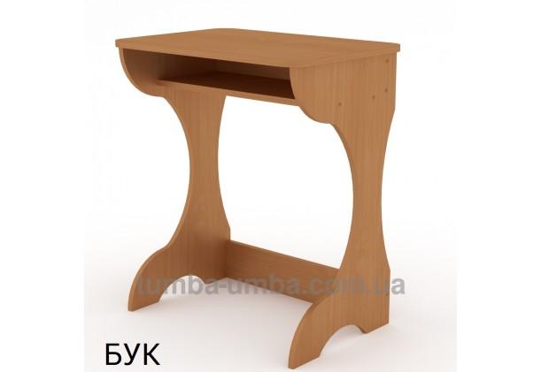 Фото готовый стандартный письменный стол-парта Юниор для дома ребенку для уроков в цвете бук дешево от производителя с доставкой по всей Украине