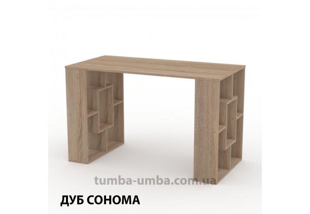 Фото готовый прямой стандартный стол Студент-3 в офис, для ребенка, для дома или для учителя в цвете дуб сонома дешево от производителя с доставкой по всей Украине