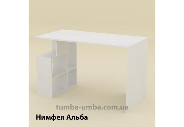 Фото готовый прямой стандартный стол Ученик-3 в офис, для ребенка, для дома или для учителя в цвете Нимфея Альба (белый структурный) дешево от производителя с доставкой по всей Украине