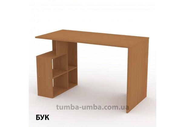 Фото готовый прямой стандартный стол Ученик-3 в офис, для ребенка, для дома или для учителя в цвете бук дешево от производителя с доставкой по всей Украине