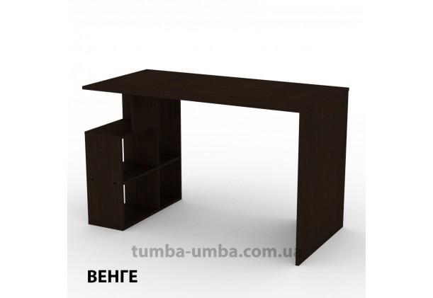 Фото готовый прямой стандартный стол Ученик-3 в офис, для ребенка, для дома или для учителя в цвете венге дешево от производителя с доставкой по всей Украине