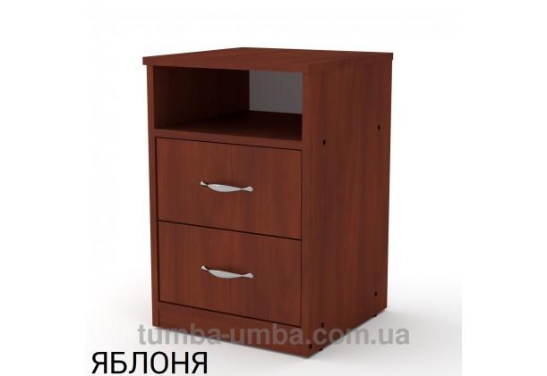 Фото недорогая стандартная прикроватная в спальню или офисная тумба под принтер и оргтехнику ПКТ-2 ДСП с нишей и ящиками в цвете яблоня дешево от производителя с доставкой по всей Украине