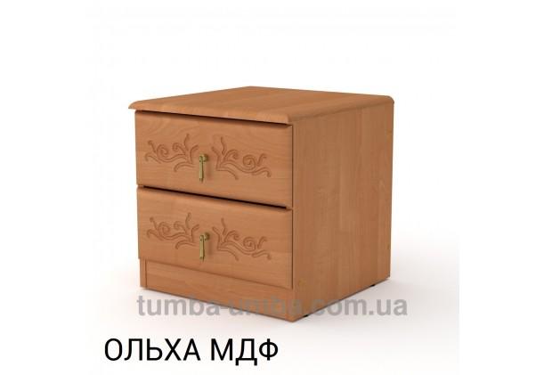 Фото недорогая стандартная прикроватная тумба в спальню ПКТ-5 МДФ с ящиками в цвете ольха дешево от производителя с доставкой по всей Украине