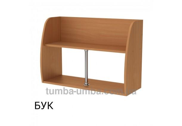 фото недорогая настенная полка-11 ДСП Компанит цвет бук для книг в гостинную, над столом, кухню или прихожую в интернет-магазине мебели эконом-класса TUMBA-UMBA™