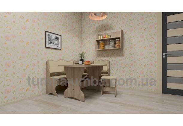 фото недорогая настенная полка-11 ДСП Компанит в интерьере в гостинной в интернет-магазине мебели эконом-класса TUMBA-UMBA™