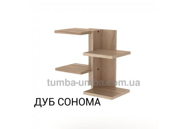 фото недорогая настенная полка-15 ДСП Компанит цвет дуб сонома для книг в гостинную, над столом, кухню или прихожую в интернет-магазине мебели эконом-класса TUMBA-UMBA™
