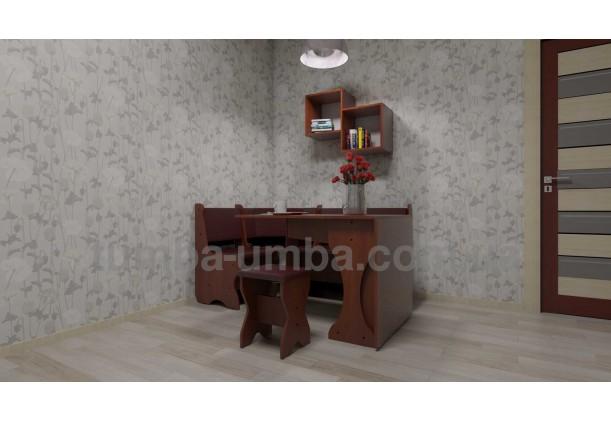 фото недорогая настенная полка-2 ДСП Компанит в интерьере в гостинной в интернет-магазине мебели эконом-класса TUMBA-UMBA™
