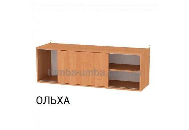 фото недорогая настенная полка-4 ДСП Компанит цвет ольха для книг в гостинную, над столом, кухню или прихожую в интернет-магазине мебели эконом-класса TUMBA-UMBA™