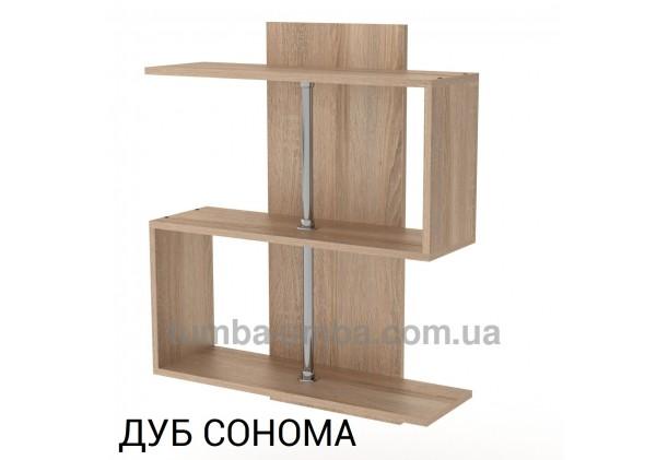фото недорогая настенная полка-8 ДСП Компанит цвет дуб сонома для книг в гостинную, над столом, кухню или прихожую в интернет-магазине мебели эконом-класса TUMBA-UMBA™
