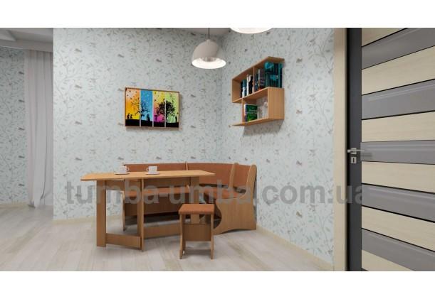 фото недорогая настенная полка-9 ДСП Компанит в интерьере в гостинной в интернет-магазине мебели эконом-класса TUMBA-UMBA™