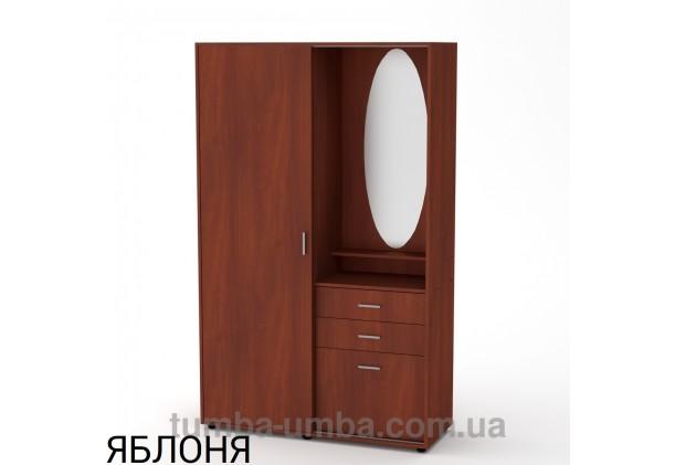 Фото готовая прихожая купе Алиса со шкафом и зеркалом в коридор в цвете яблоня дешево от производителя с доставкой по всей Украине