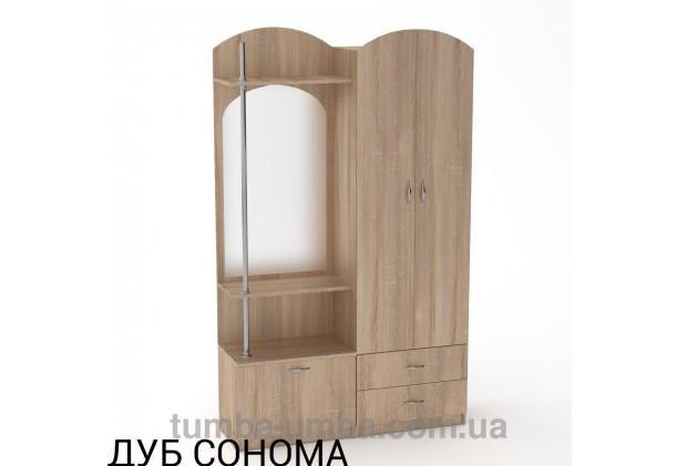 Фото готовая прихожая Валентина со шкафом и зеркалом в коридор в цвете дуб сонома дешево от производителя с доставкой по всей Украине