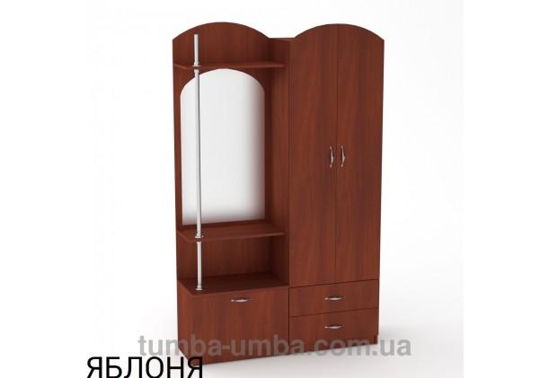 Фото готовая прихожая Валентина со шкафом и зеркалом в коридор в цвете яблоня дешево от производителя с доставкой по всей Украине