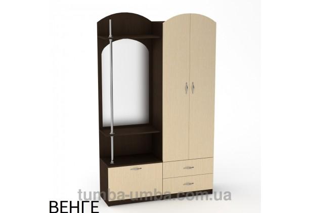 Фото готовая прихожая Валентина со шкафом и зеркалом в коридор в цвете венге дешево от производителя с доставкой по всей Украине