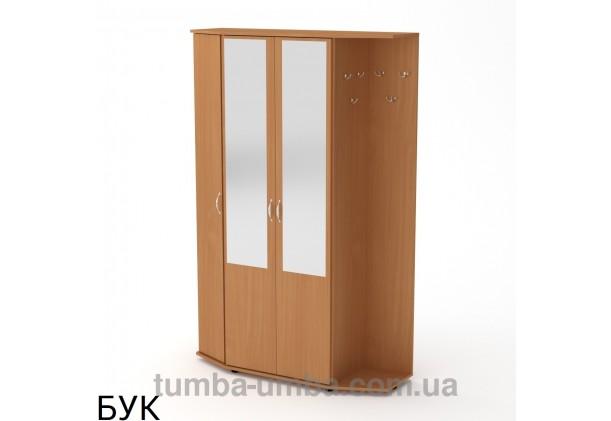 Фото готовая прихожая Виктория со шкафом и зеркалом в коридор в цвете бук дешево от производителя с доставкой по всей Украине