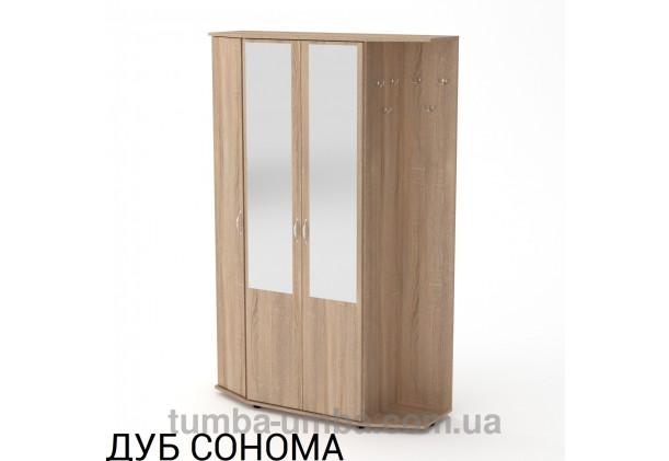 Фото готовая прихожая Виктория со шкафом и зеркалом в коридор в цвете дуб сонома дешево от производителя с доставкой по всей Украине