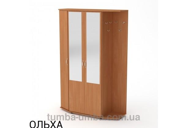 Фото готовая прихожая Виктория со шкафом и зеркалом в коридор в цвете ольха дешево от производителя с доставкой по всей Украине