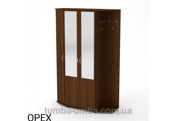 Фото готовая прихожая Виктория со шкафом и зеркалом в коридор в цвете Орех Экко дешево от производителя с доставкой по всей Украине