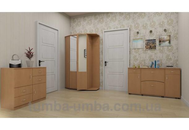 Фото готовая прихожая Виктория со шкафом и зеркалом в коридоре дешево от производителя с доставкой по всей Украине