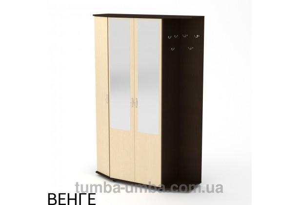 Фото готовая прихожая Виктория со шкафом и зеркалом в коридор в цвете венге дешево от производителя с доставкой по всей Украине