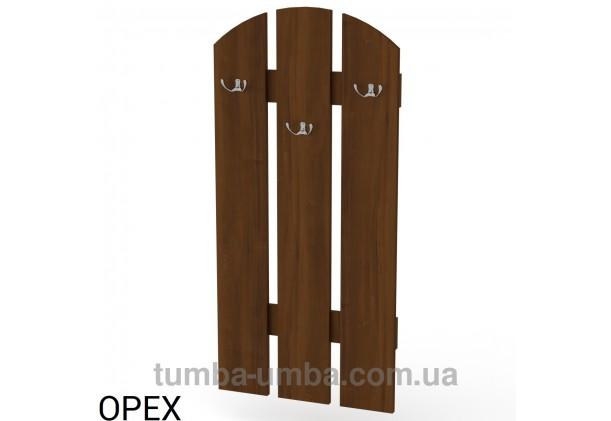 Фото готовая настенная вешалка В-1 с крючками для верхней одежды в прихожую или офис в цвете Орех Экко дешево от производителя с доставкой по всей Украине