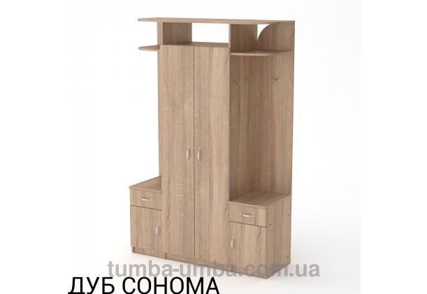 Фото готовая прихожая Галина со шкафом в коридор в цвете дуб сонома дешево от производителя с доставкой по всей Украине