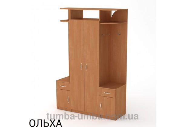 Фото готовая прихожая Галина со шкафом в коридор в цвете ольха дешево от производителя с доставкой по всей Украине