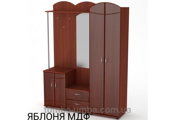 Фото готовая прихожая Екатерина МДФ со шкафом и зеркалом в коридор в цвете яблоня дешево от производителя с доставкой по всей Украине