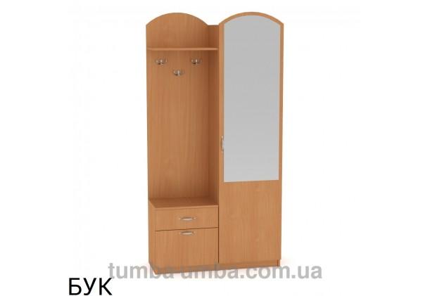 Фото готовая прихожая Лидия со шкафом и зеркалом в коридор в цвете бук дешево от производителя с доставкой по всей Украине