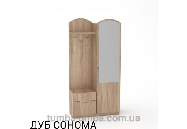 Фото готовая прихожая Лидия со шкафом и зеркалом в коридор в цвете дуб сонома дешево от производителя с доставкой по всей Украине