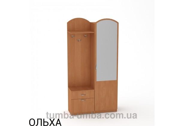 Фото готовая прихожая Лидия со шкафом и зеркалом в коридор в цвете ольха дешево от производителя с доставкой по всей Украине