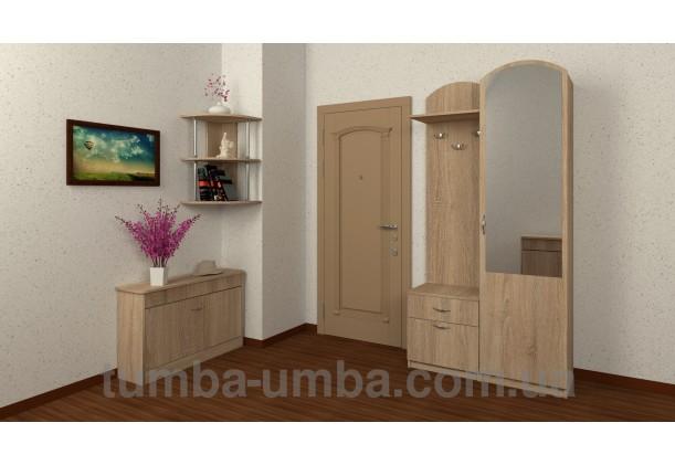 Фото готовая прихожая Лидия со шкафом и зеркалом в коридоре дешево от производителя с доставкой по всей Украине
