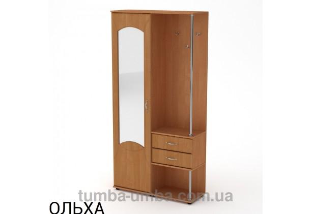 Фото готовая прихожая Надежда МДФ со шкафом и зеркалом в коридор в цвете ольха дешево от производителя с доставкой по всей Украине