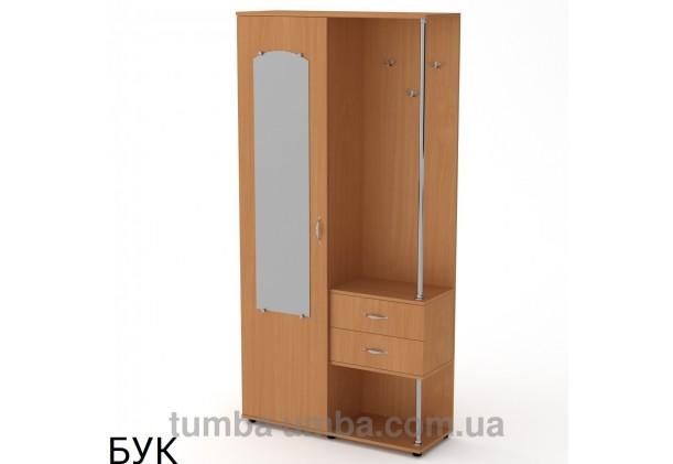 Фото готовая прихожая Надежда со шкафом и зеркалом в коридор в цвете бук дешево от производителя с доставкой по всей Украине